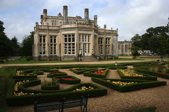 Highcliffe Castle's formal gardens